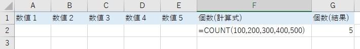 COUNT(数値を指定)